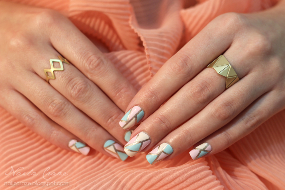 Jewelry Nail Art Origami In Pastel