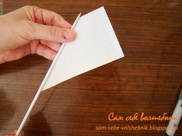 Как сделать из трубочек и бумаги