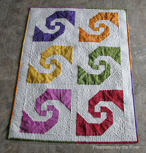 Quilt made with Full Bloom by Island Batik