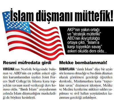 Amerika'nın sinsi  islam düşmanlığı