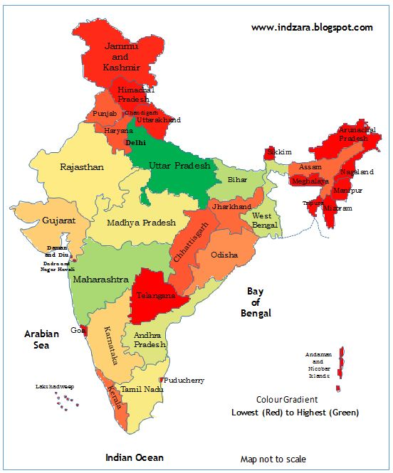 indzara: Geographic heat map - India (Excel template)