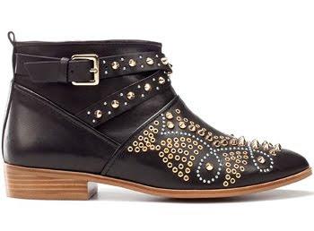 botines tachuelas Zara