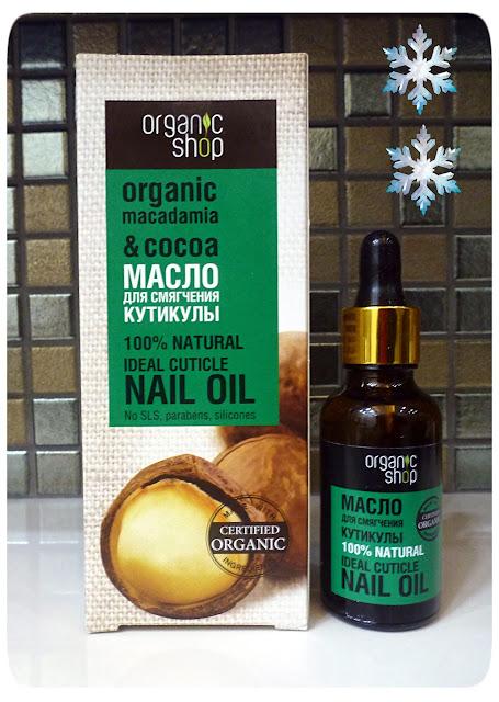 """Organic Shop: Organiczny olejek do zmiękczania skórek """"Makadamia i Kakao"""""""