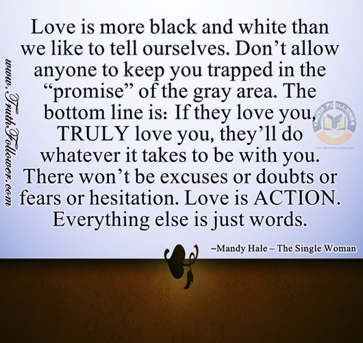 Love Is Just A Word Until Someone