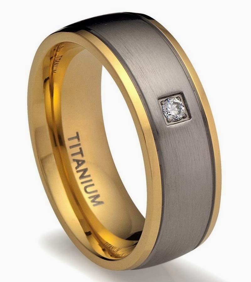 Mens Diamond Wedding Bands Titanium Gold pictures hd