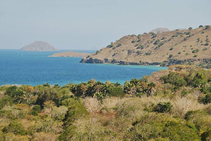 Bahía en la isla de Komodo