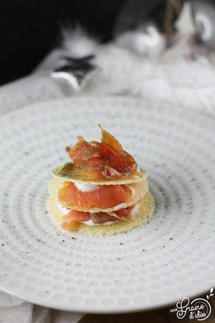 Millefeuille Saumon Spiruline Parmesan Concours Vins Alsace
