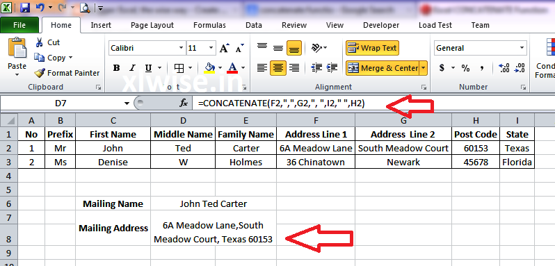 Using Concatenate Function In Excel Excel The Wise Way