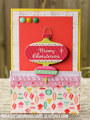 Chipboard_Merry Christmas Card_Handmade
