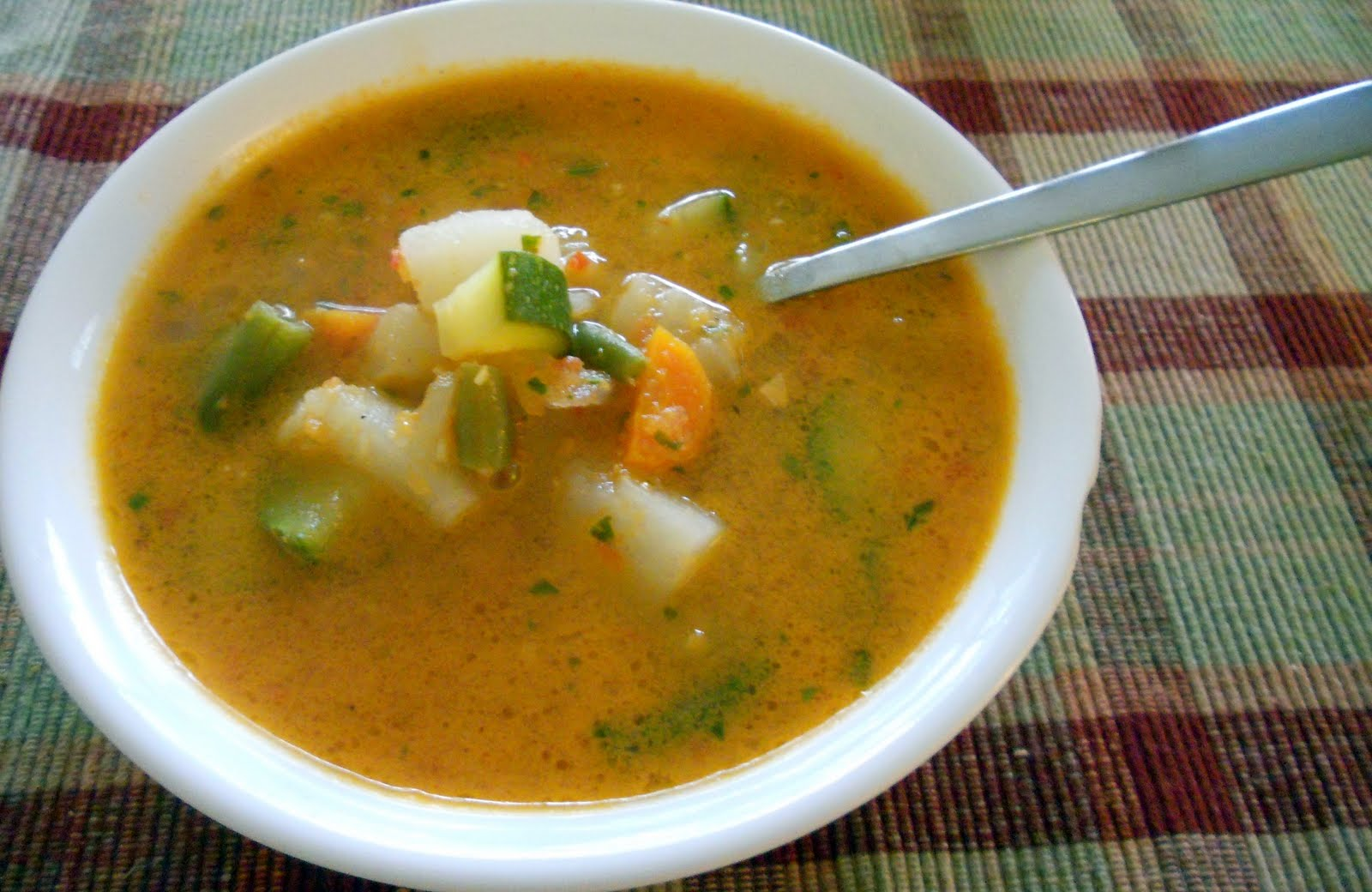 The Skimpy Pantry: Vegetable Soup with Sweet Basil