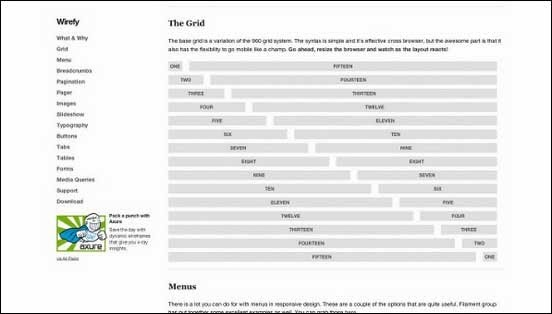 Create a responsive wireframe