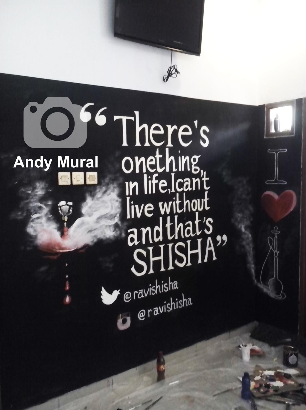 Lukisan kafe shisha jasa lukis tembok lukis dinding for Mural untuk cafe