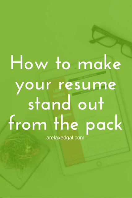 How to make my resume