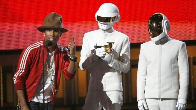 Daft Punk en la entrega de premios Grammy 2014