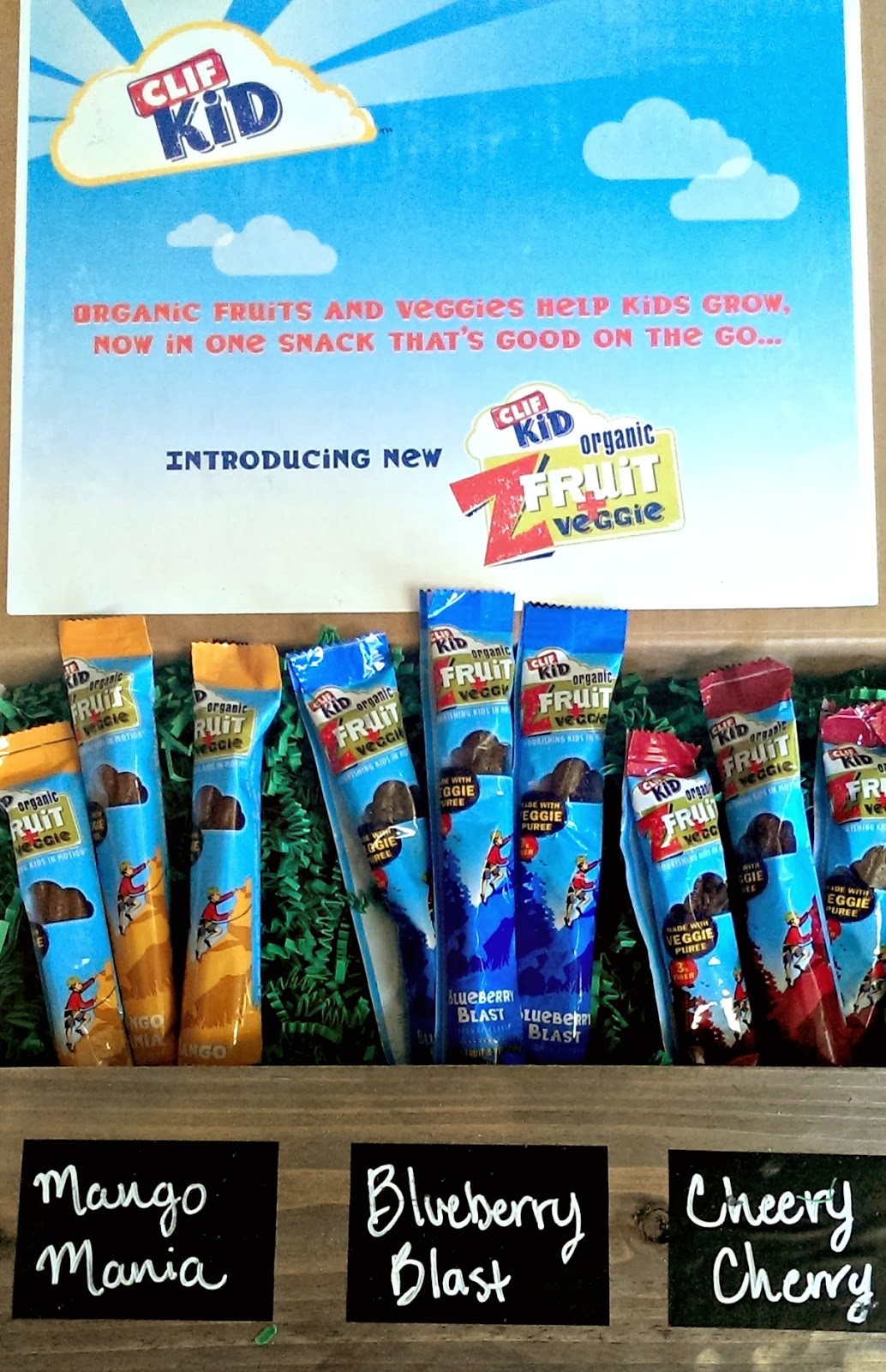 CLIF Kid veggie + fruit snacks