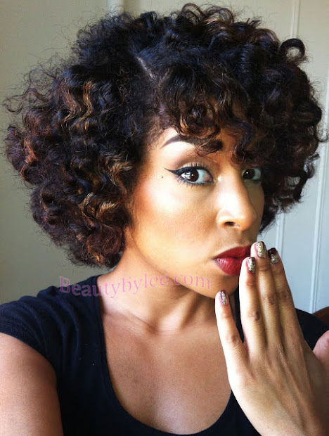 heat stretched bantu knot