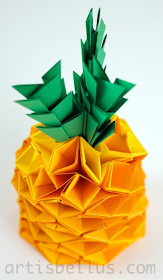 Origami Fruits: Pineapple