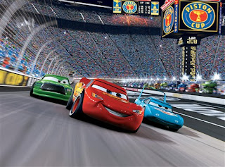 Lightning McQueen racing during Cars 2 movieloversreviews.blogspot.com