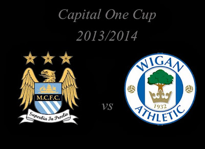 Manchester City vs Wigan Athletic Capital One Cup 2013