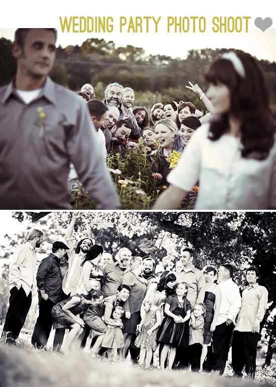 wedding party photo shoot
