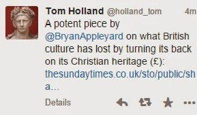 @BryanAppleyard on what British culture has lost by turning its back on its Christian heritage (£):