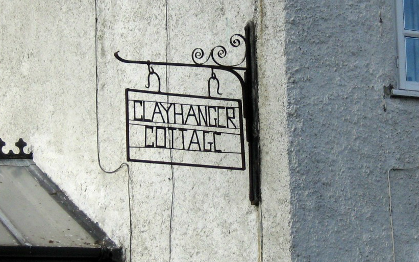 Clayhanger Cottage sign