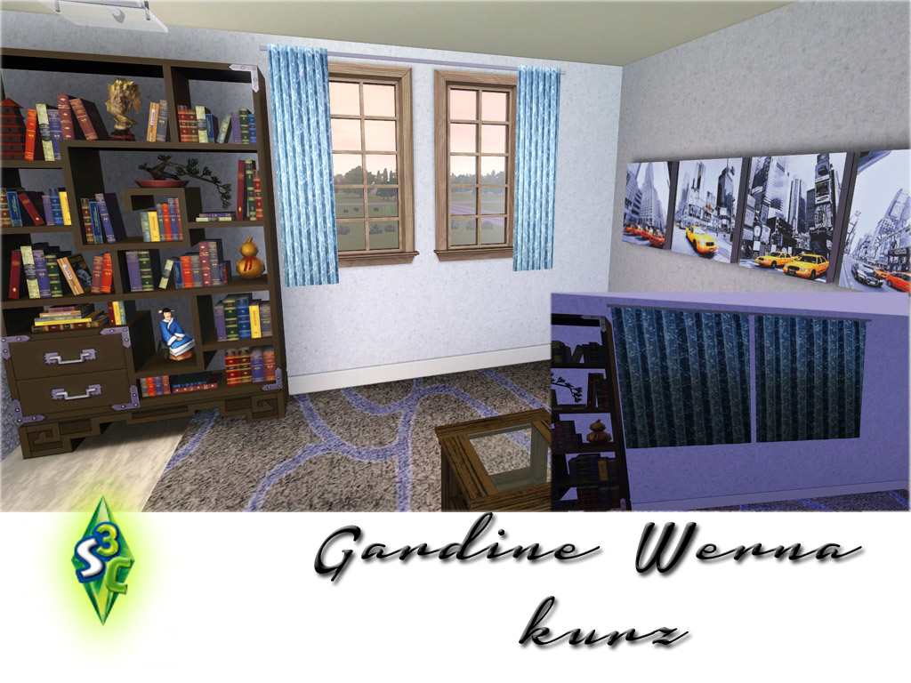 my sims 3 blog new curtains by bobo. Black Bedroom Furniture Sets. Home Design Ideas