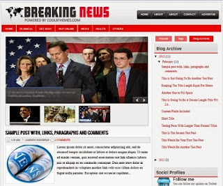 Breaking News - Free News Blogger Template