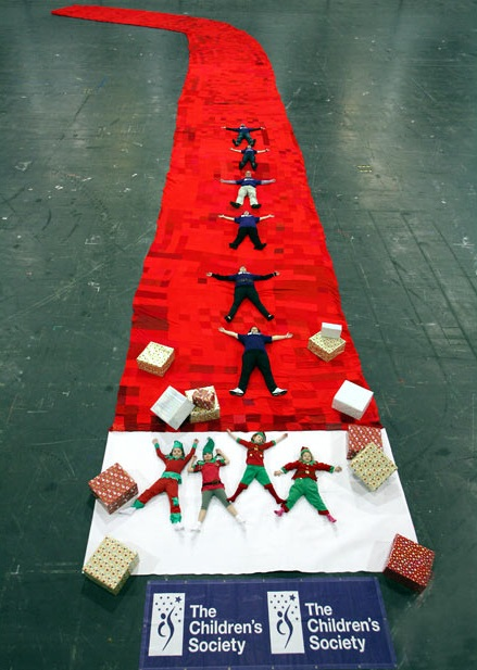 united kingdom, london, largest christmas stocking