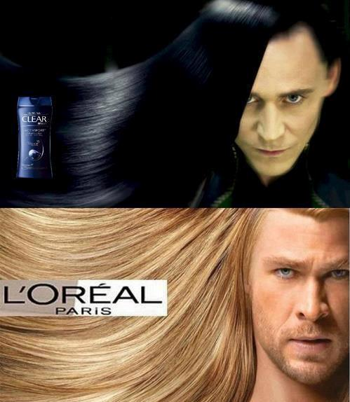 Thor and Loki hair products