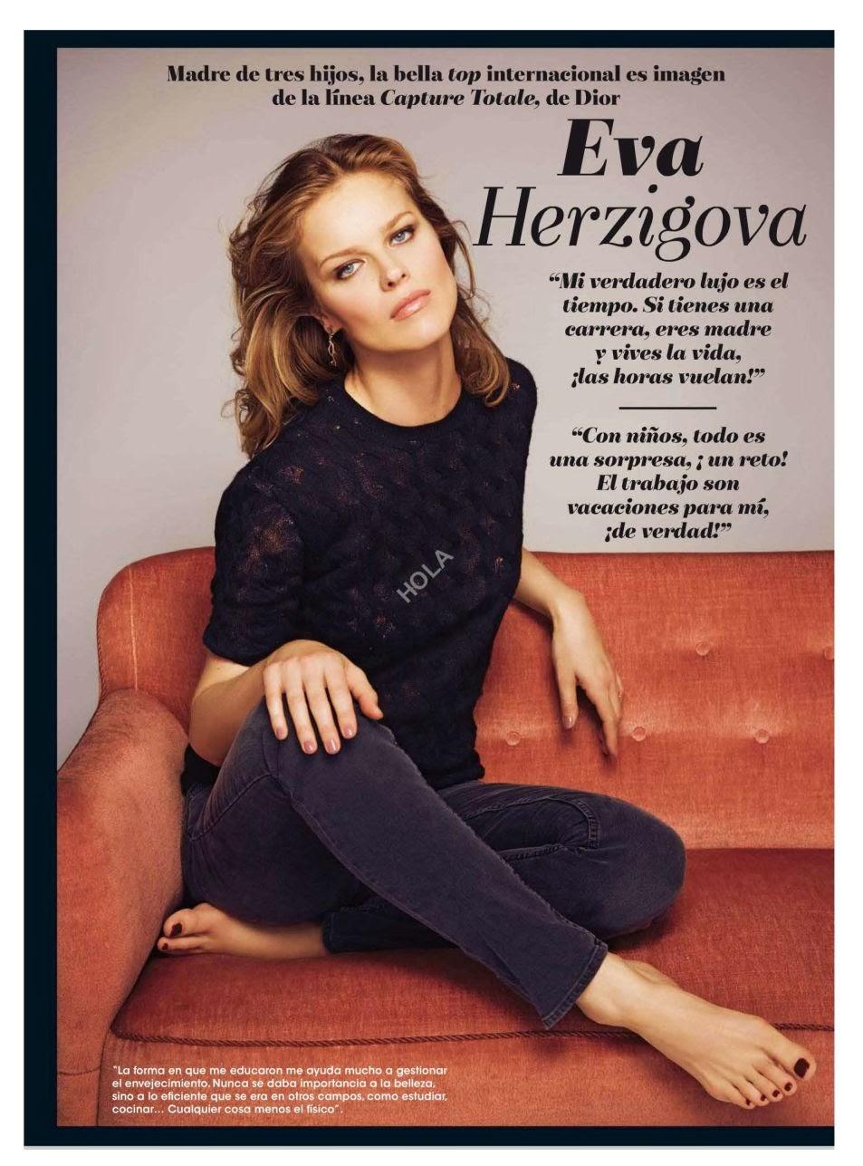 Eva Herzigova Hola Spain Magazine Photoshoot Enero 2014 HQ Pics
