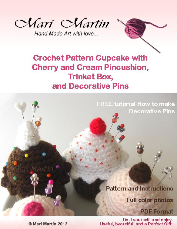 Crochet Cupcake Pincushions
