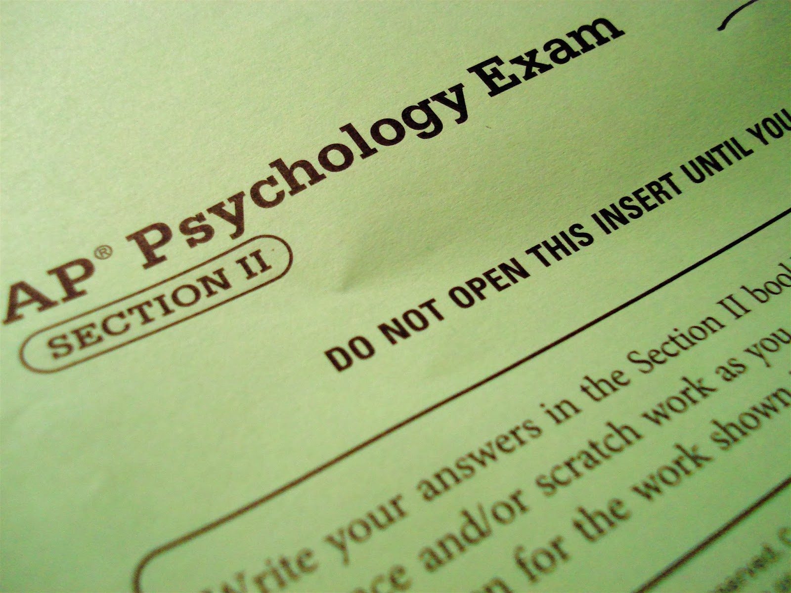 essay test psychology