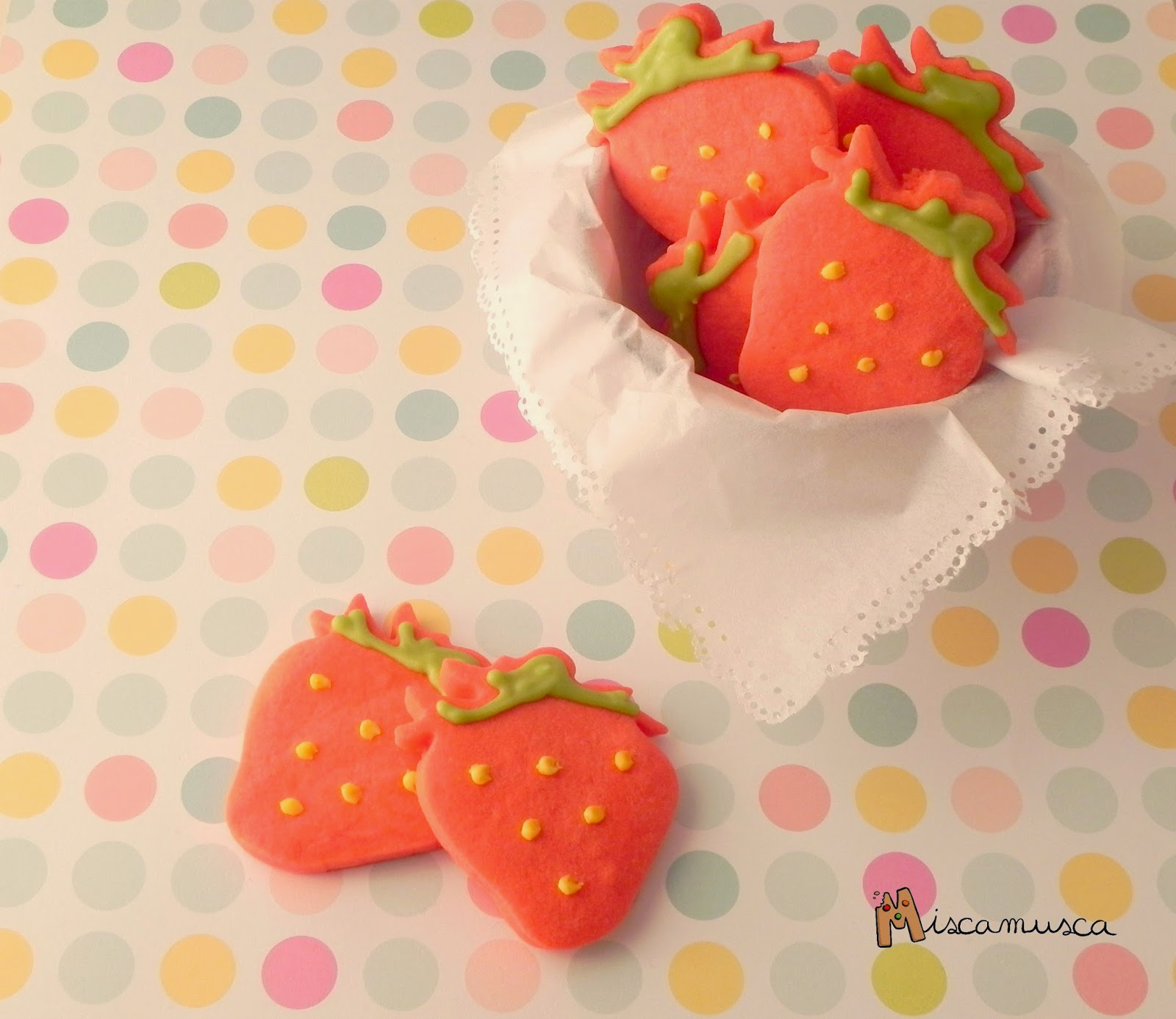 Galletas de fresa