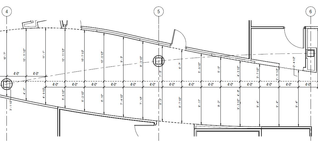 Revit Templateer: How to dimension a funky curved wall
