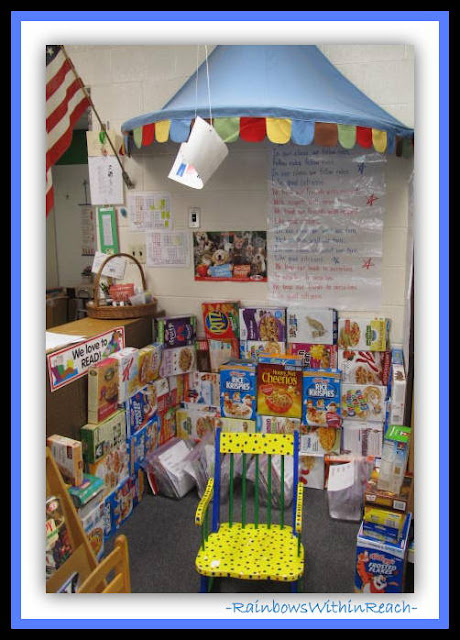 Reading Center in Early Elementary (Classroom Decor RoundUP at RainbowsWithinReach)