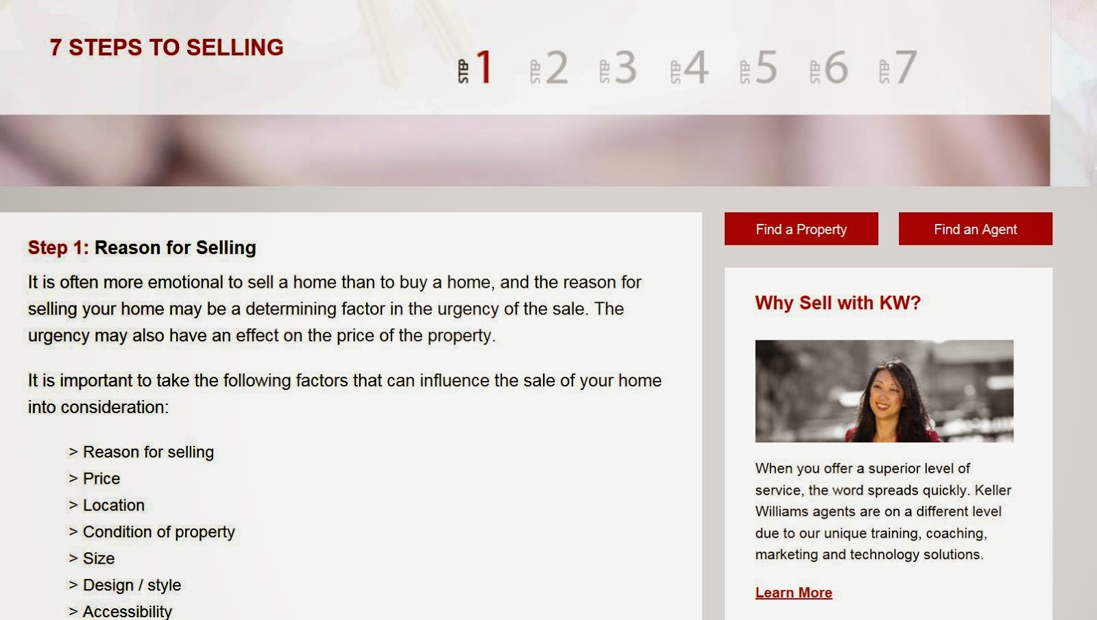 KW 7 Steps to Selling