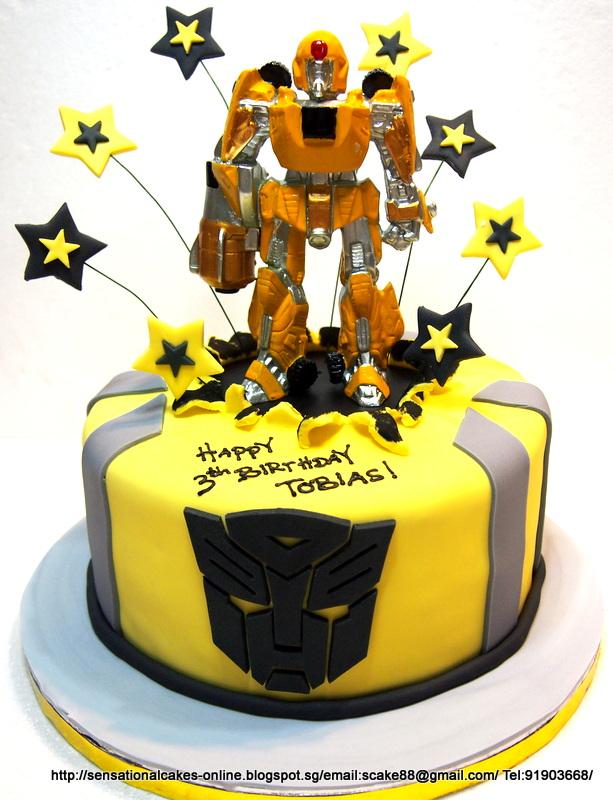 The Sensational Cakes: BUMBLE BEE ROBOTS THEME CAKE SINGAPORE