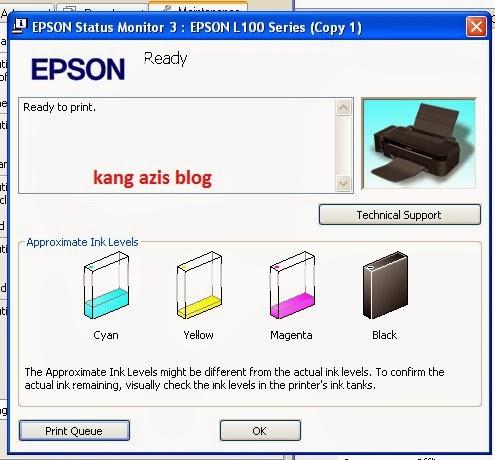 Cara Reset Ink Level Epson L100 L200 tanpa SN ID tinta