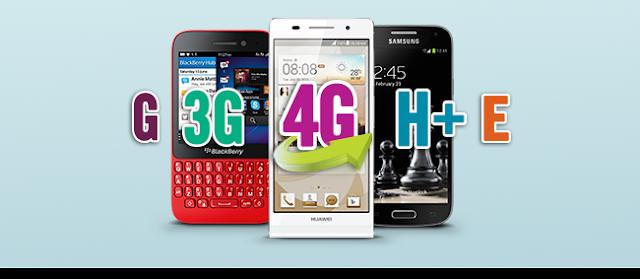 معرفة علامة G و E و 3G و H+ و 4G التي تظهر على الهاتف