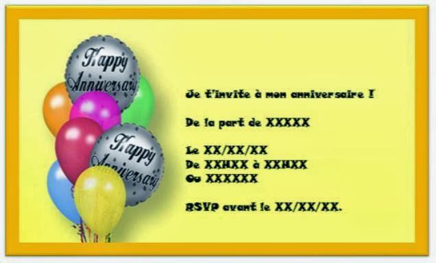 Carte Invitation Anniversaire Garcon Texte Anniversaire Sms