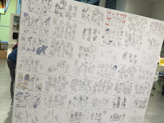 Little Witch Academia Character Design Board Wall Full