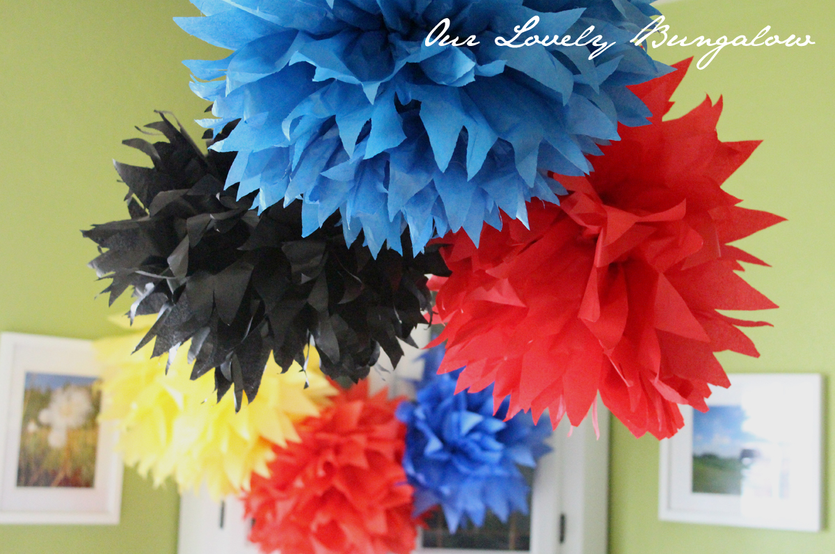 martha stewart tissue paper pom poms This package contains eight tissue paper pom-poms eight wire sections and easy instructions martha stewart crafts-tissue paper pom-pom kit.