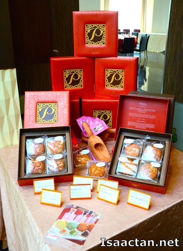 Interesting red packaging of the Premiere Hotel Mooncakes