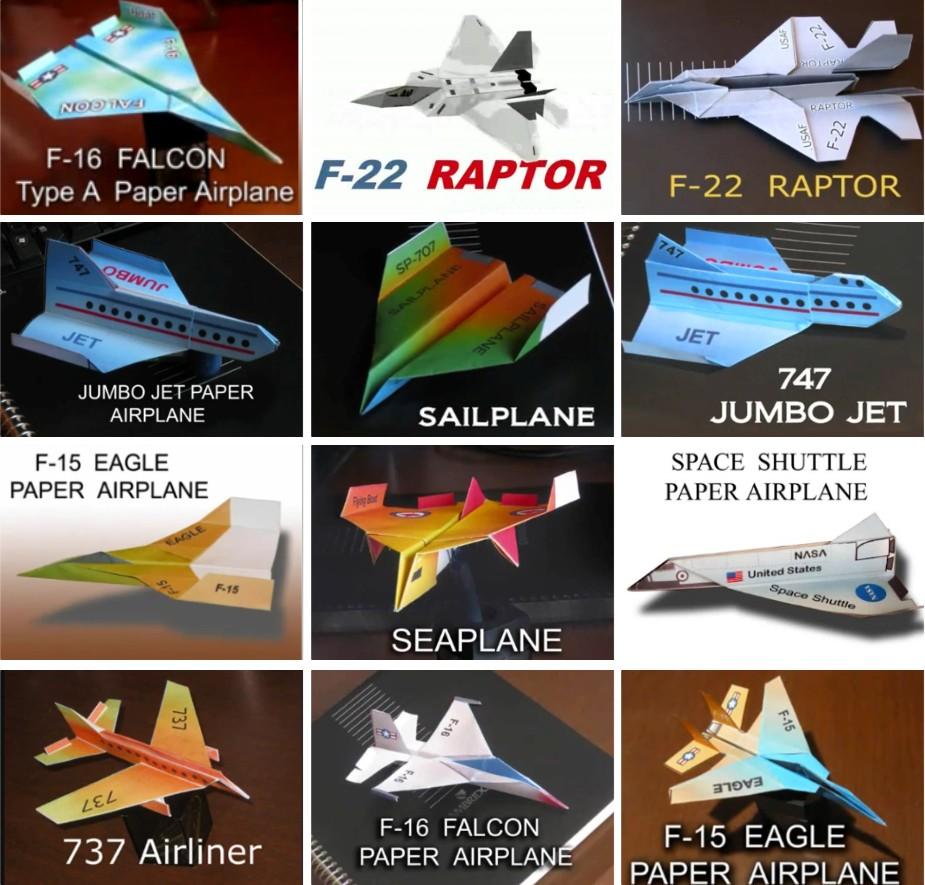 PAPER FOLDING AIRPLANE - Panduan membuat aneka jenis pesawat dengan ...