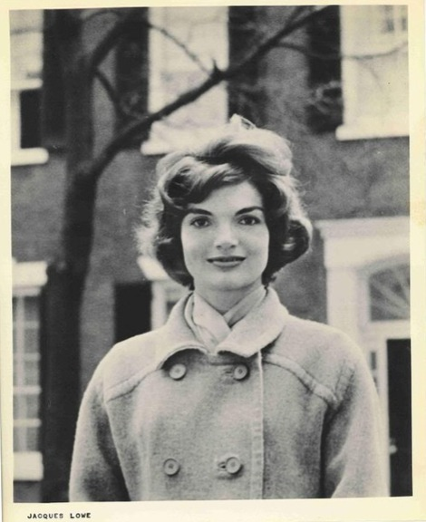Jackie Kennedy In front of House on N Street Georgetown