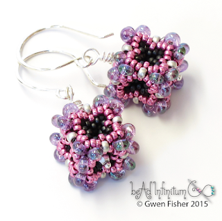Baroque Cube Beaded Bead Earrings