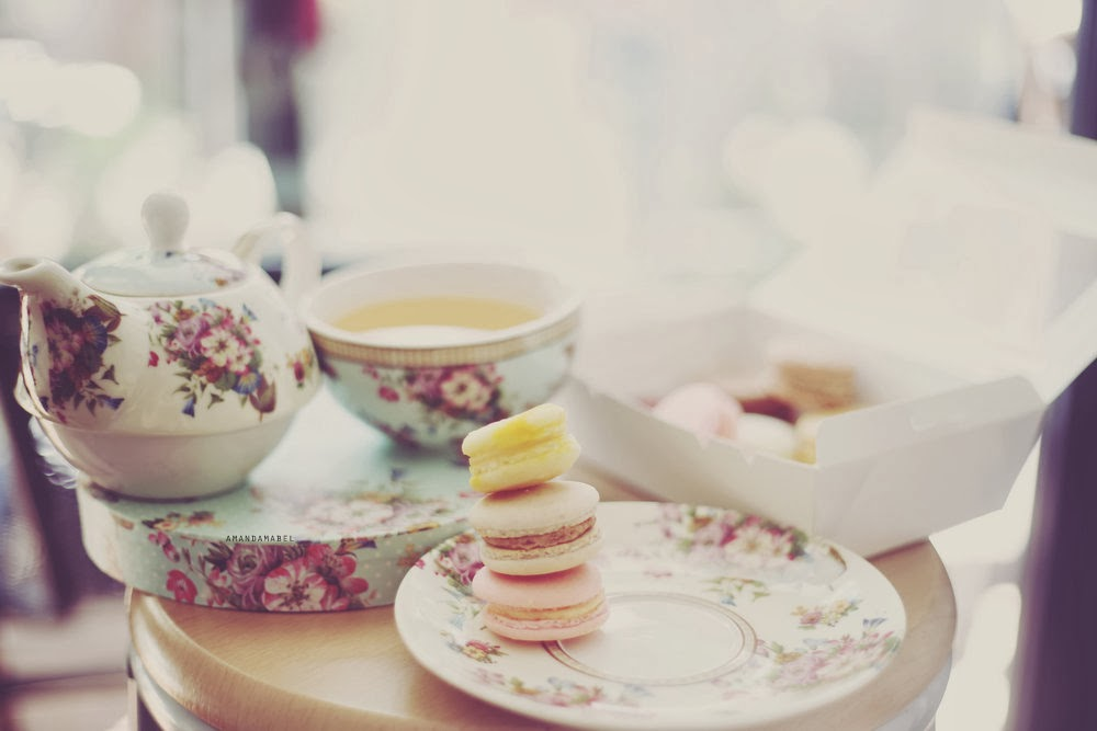 Macarons and high tea