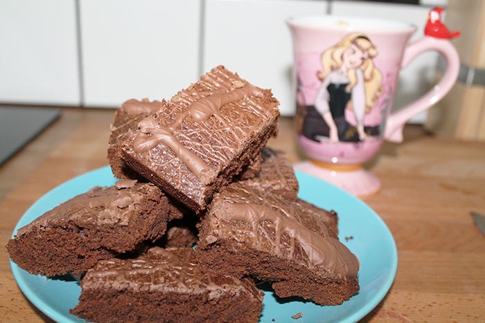 Three ingredient naughty chocolate brownies
