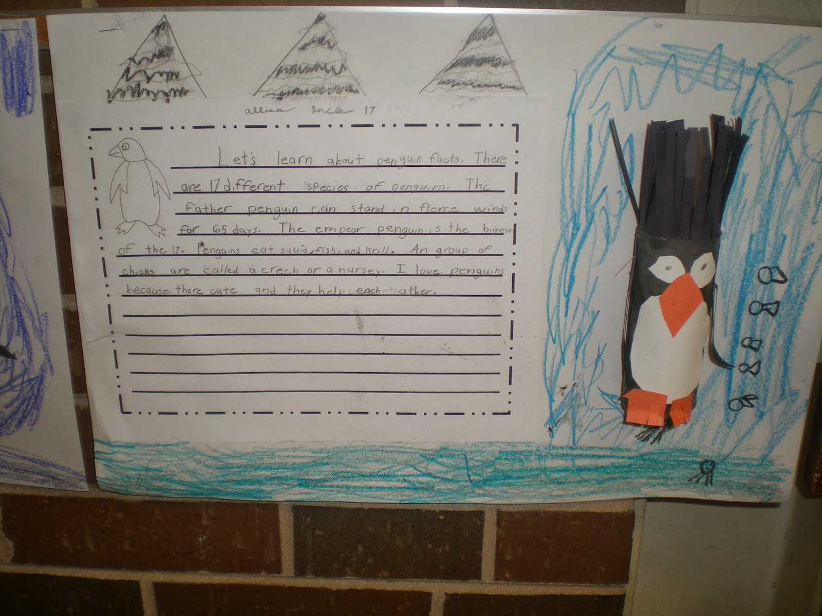 third grade love ~~~penguins sneaux days~~~ the finished essay came out adorable